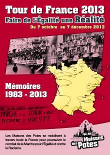 Les étapes de la Marche pour l'Égalité (1983-2013)