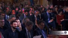 Samuel Thomas était présent pour le journal des quartiers Pote à Pote à la conférence de presse de François Hollande